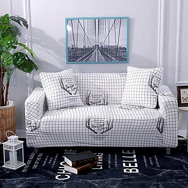 capa de sofá branco antler veado impresso antiderrapante slipcovers