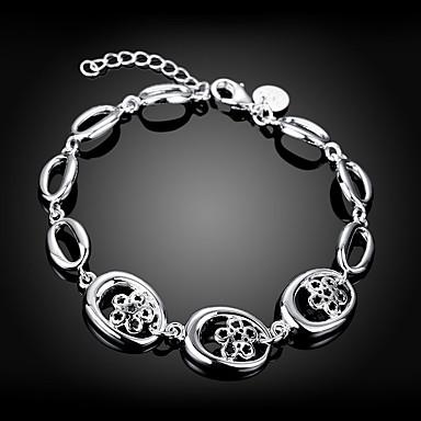 Mulheres Pulseiras em Correntes e Ligações Flor Estiloso Cobre Pulseira de jóias Prata Para Diário Trabalho