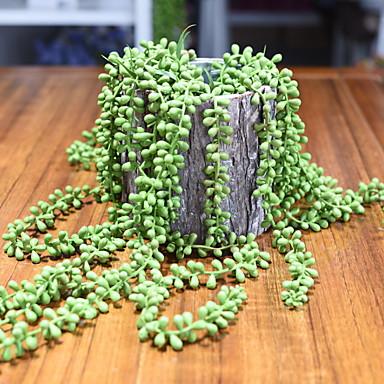 Flores artificiais 1 Ramo Clássico Modern Plantas suculentas Flor de Mesa
