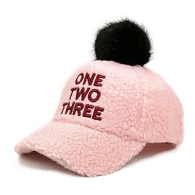 preiswerte Kinder Hüte & Kappen-Kinder / Baby Jungen / Mädchen Aktiv / Grundlegend / Süß Solide / Buchstabe Stilvoll Baumwolle Hüte & Kappen Schwarz / Rosa / Beige Einheitsgröße