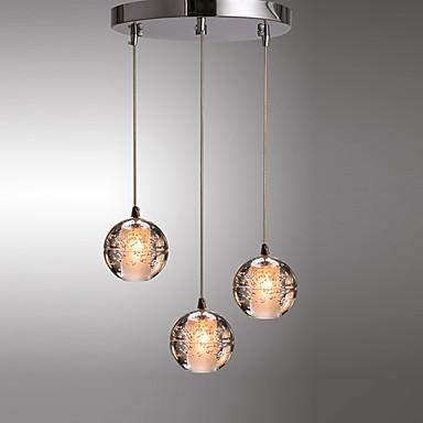 cluster / globo luz pingente luz ambiente galvanizado metal moderno simples iluminação pendurada