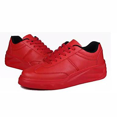 Homens Sapatos Confortáveis Couro Ecológico Verão Tênis Preto / Branco / Vermelho / Ao ar livre