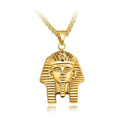 povoljno Modne ogrlice-Muškarci Ogrlice s privjeskom Bizant Vjera Drevni Egipt Titanium Steel Zlato Pink 55 cm Ogrlice Jewelry 1pc Za Dar Škola Ulica Klub Obećanje