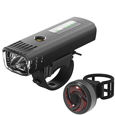 LED Luzes de Bicicleta Jogo de Luzes Recarregáveis para Bicicleta Luz Frontal para Bicicleta Luz Traseira Para Bicicleta Ciclismo de Montanha Moto Ciclismo Impermeável Múltiplos Modos Indução / USB