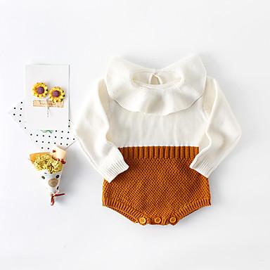 povoljno Odjeća za bebe-3 komada Dijete Djevojčice Aktivan / Ulični šik Color block Nabori Dugih rukava bodysuit Red