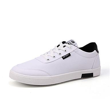 Homens Sapatos Confortáveis Lona Primavera / Verão Tênis Respirável Preto / Branco / Azul