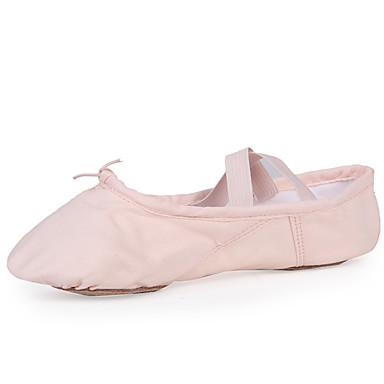ราคาถูก LITB เลือก-สำหรับผู้หญิง รองเท้าเต้นรำ ผ้าใบ บัลเล่ต์ ส้นเรียบ ส้นแบน ตัดเฉพาะได้ สีชมพู / Performance / ฝึก