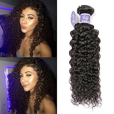 povoljno Ekstenzije od ljudske kose-3 paketa Malezijska kosa Kinky Curly Virgin kosa Netretirana  ljudske kose Ljudske kose plete Produžetak Bundle kose 8-28 inch Natural Isprepliće ljudske kose proširenje Sexy Lady Najbolja kvaliteta