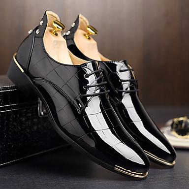 ieftine Oxfords Bărbați-Bărbați Pantofi rochie Pantofi Derby Primăvară / Vară Afacere / Casual Zilnic Party & Seară Birou și carieră Oxfords Plimbare Piele Originală Respirabil Non-alunecare Rosu / Albastru / Negru / Ținte