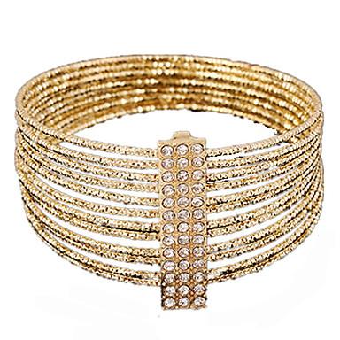 povoljno Modne narukvice-Žene Zamotajte Narukvice Širok prstenje Izrezati dragocjen Jedinstven dizajn Moda Legura Narukvica Nakit Zlato Za Party Ulica