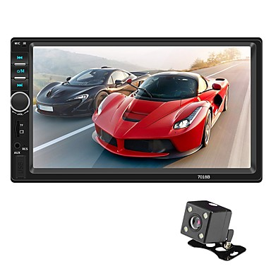swm 7018b 7 tommers 2 din bil mp5-spiller hd berøringsskjerm bilstereo radio billyd multimedia mp3 fm usb bluetooth med ryggekamera