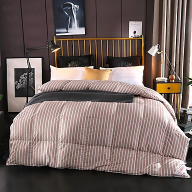 cheap Quilts & Coverlets-Comfortable - 1pc Comforter All Seasons White Duck Down Solid Colored