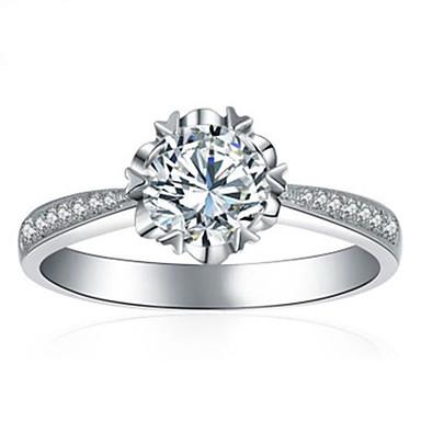 billige Motering-Dame Ring 1pc Hvit Kobber Sirkelformet Grunnleggende Koreansk Mote Bryllup Smykker Kjærlighed Smuk