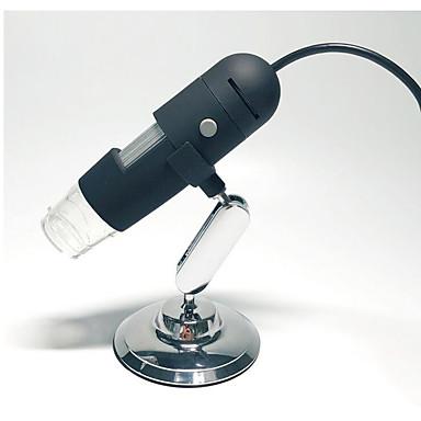 Microscópio digital um012t com ampliações 200x microscópicas profissionais