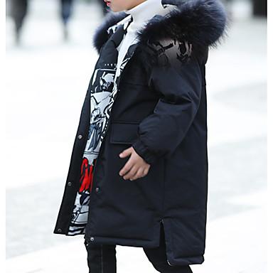 povoljno Odjeća za dječake-Djeca Dječaci Osnovni Jednobojni Pernata i pamučna podstava Crn