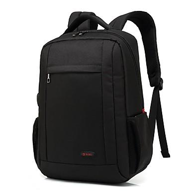 preiswerte Taschen für Herren-Einstellbar Nylon Reißverschluss Rucksack Volltonfarbe Reisen Grau