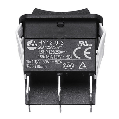 billige Bildeler-kedu hy12-9-3 6pins industriell elektrisk vippebryter på vippebryter trykknappbrytere for elektrisk elektroverktøy 125 / 250v 18 / 20a 5,0