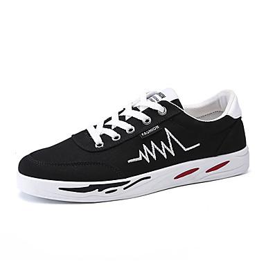 Homens Sapatos Confortáveis Lona Verão Casual Tênis Não escorregar Estampa Colorida Preto / Branco / Vermelho