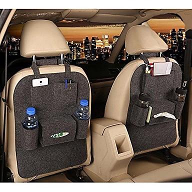 billige Interiørtilbehør til bilen-biloppbevaringspose universell kasse baksetesekk, arrangør bakseteholderlommer bilstylingbeskytter, biltilbehør til barn