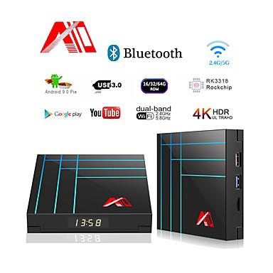 a10 caixa de tv inteligente 4 gb 32 gb rk3318 quad core iptv caixa de tv android youtube 4 k hdr media player google play