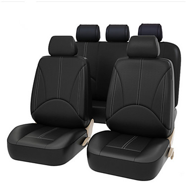 cheap Car Seat Covers-4PCS/Set 2 Frontseat Covers Advanced PU Leather Auto Universal Car Seat Covers  Auto Seat Protector Cushion Front Rear Cover Interior Accessories Vehicle Car Styling