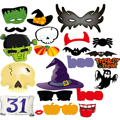 levne Party doplňky-Halloween / Festival Příslušenství Party Vtipné ozdoby na focení Dýně / Vzor lepenkový papír Klasický motiv / kreativita / rustikální téma