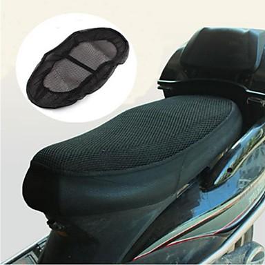 billige Interiørtilbehør til bilen-motorsykkel scooter antislip pustende netting setetrekk sadel deksel xl størrelse