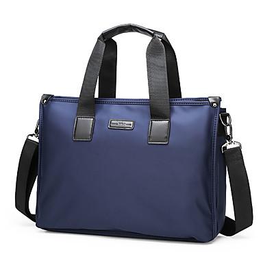 Homens Ziper Tecido Oxford Bolsas de Alça Côr Sólida Azul / Preto / Outono & inverno
