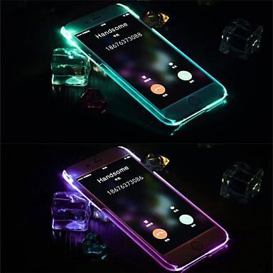 povoljno iPhone maske-Θήκη Za Apple iPhone XS Max / iPhone X LED bljeskalica / Prozirno Stražnja maska Jednobojni TPU