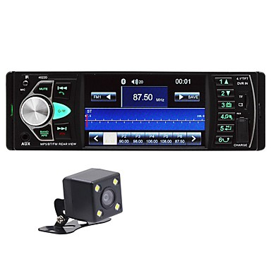 levne Auto Elektronika-4,1 palcový hd auto mp5 bluetooth handsfree vozidlo mp5 přehrávač karta rádio 4022d se zadní kamerou