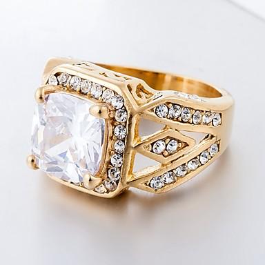billige Motering-Dame Band Ring Ring 1pc Hvit Rød Blå Titanium Stål Sirkelformet Vintage Grunnleggende Mote Daglig Smykker