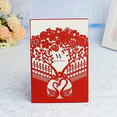 """preiswerte Hochzeitseinladungen-Hülle & Taschenformat Hochzeits-Einladungen 30 Stück - Einladungskarten / Dankeschön-Karten / Wartekarten Künsterlischer Stil / Märchenthema / Geblühmter Style Perlenpapier 5 """"x 7 ¼"""" (12,7 * 18,4cm)"""