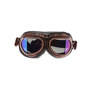preiswerte Motorradhelme-motorradbrille gläser vintage motocross retro flieger pilot cruiser atv uv schutzbrille rahmen farbenfroh