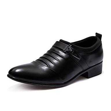 Homens Sapatos de couro Pele Napa Verão Mocassins e Slip-Ons Preto / Branco / Festas & Noite / Festas & Noite / Escritório e Carreira