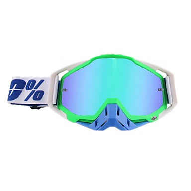 billige Motorsykkelhjelmer-motorsykkelbriller støvtett ridning utendørs langrennsbriller motor frontrute briller ramme farge hvit grønn blå