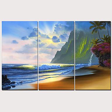 Estampado Estampados de Lonas Esticada - Paisagem Tradicional Modern 3 Painéis Art Prints