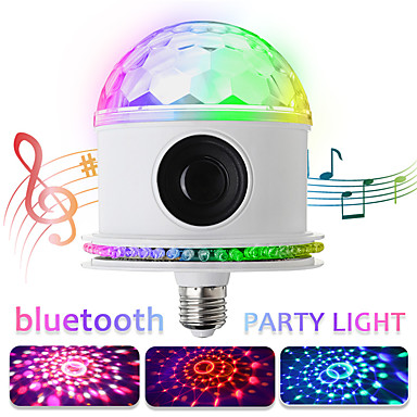 preiswerte Audio & Video für Ihr Zuhause-led disco glühbirnen bluetooth musik lautsprecher fernbedienung rgbwhite magie projektor bühnenlicht e27