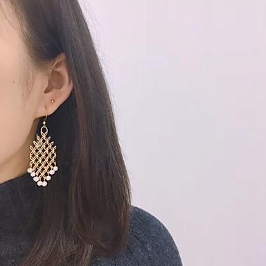 levne Dámské šperky-Dámské Náušnice - Kruhy Lustr Blahoslavený stylové Dovolená Evropský Perly Stříbro Náušnice Šperky Zlatá Pro Dovolená 2pcs