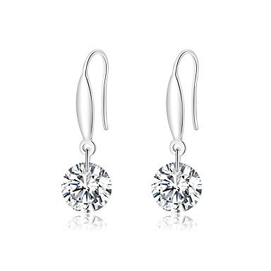 Srebrne naušnice u obliku sterlinga od 925 srebra za žene vise od naušnica, cisle su jasno cz modni izričaj