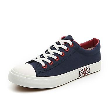 Homens Sapatos Confortáveis Tecido elástico Primavera Verão / Outono & inverno Casual Tênis Respirável Preto / Branco / Azul / Solas Claras