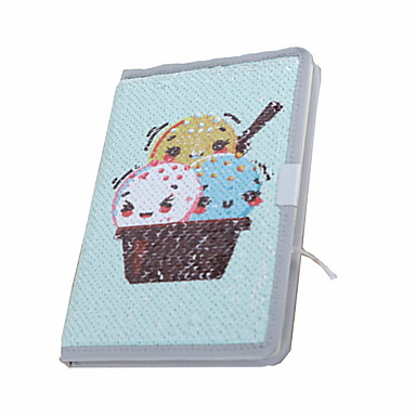 novo papel especial / dupla escala lantejoulas bebidas frias na série de verão notepads / note book para papelaria escritório da escola a5