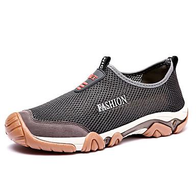 Homens Sapatos Confortáveis Com Transparência / Couro Ecológico Verão Casual Mocassins e Slip-Ons Não escorregar Preto / Azul / Cinzento