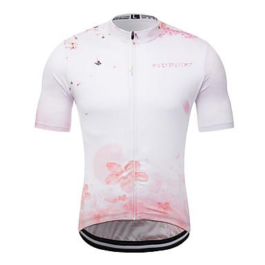 MUBODO Homens Manga Curta Camisa para Ciclismo Terylene Rosa claro Moto Camisa / Roupas Para Esporte Blusas Ciclismo de Montanha Ciclismo de Estrada Respirável Secagem Rápida Esportes Roupa
