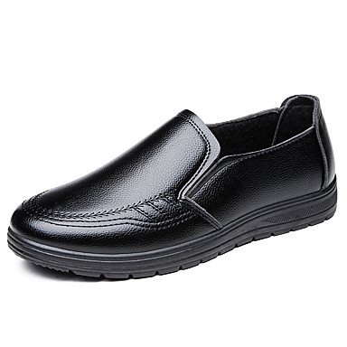 Homens Sapatos formais Microfibra Outono & inverno Clássico Mocassins e Slip-Ons Manter Quente Preto / Marron