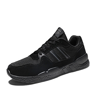 Homens Sapatos Confortáveis Couro Ecológico Primavera Verão Formais / Colegial Tênis Respirável Preto / Cinzento / Não escorregar