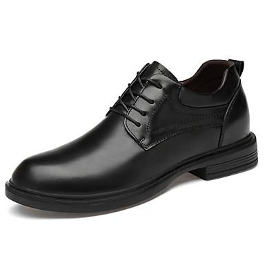 Homens Sapatos formais Pele Napa Primavera Verão Clássico / Casual Oxfords Não escorregar Preto / Festas & Noite / Festas & Noite / Sapatos de couro