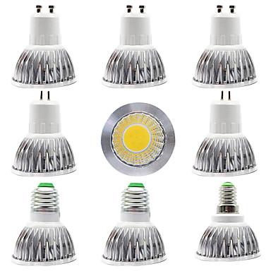 9pcs 15 W Lâmpadas de Foco de LED 300 lm E14 GU10 GU5.3 1 Contas LED COB Novo Design Branco Quente Branco 220-240 V 110-120 V
