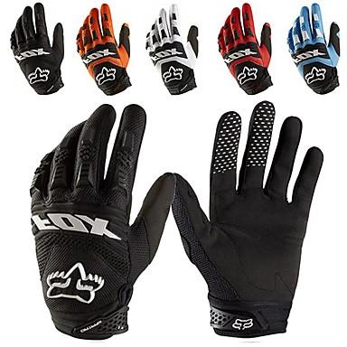 billige Motorsykkel & ATV tilbehør-full finger motorsykkelhansker skinnstoff slitesterkt motorsykkel guantes hansker