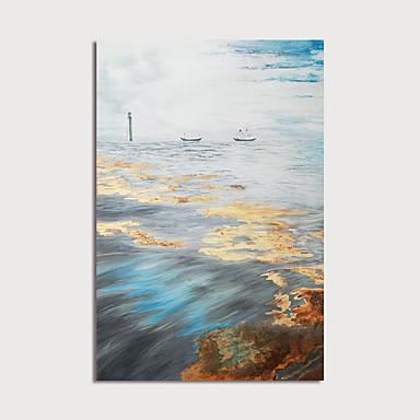 Pintura a Óleo Pintados à mão - Abstrato Modern Incluir moldura interna