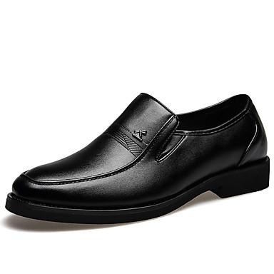 Homens Sapatos formais Microfibra Primavera / Verão Mocassins e Slip-Ons Preto / Escritório e Carreira